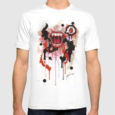 Vampire Mens Fitted Tee White SMALL