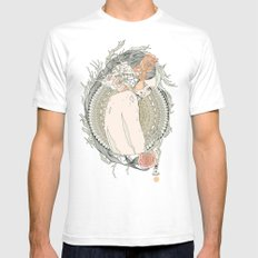 blackened doily Mens Fitted Tee White SMALL