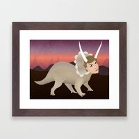 Michael Ceratops Framed Art Print