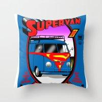 Supervan Throw Pillow