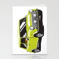 Mini Cooper Car - Chartr… Stationery Cards