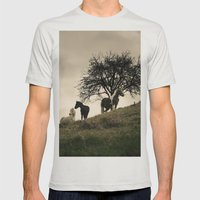 caballos Mens Fitted Tee Silver SMALL