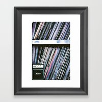 Vinyl Baby Framed Art Print