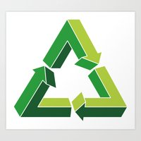 Recycle Infinitely Art Print