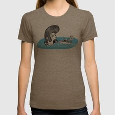 Elvis Eats Boats Womens Fitted Tee Tri-Coffee SMALL