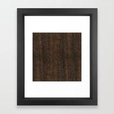 Smoked Etimoe Wood Framed Art Print