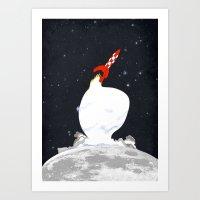 Destination Moon Art Print