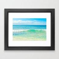 Ocean Blue Beach Dreams Framed Art Print