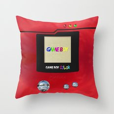 Retro Nintendo Gameboy P… Throw Pillow