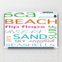 Beach typography iPad Case