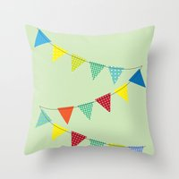 Hurray for boys! Throw Pillow