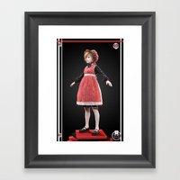 Red bonnet Framed Art Print
