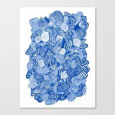 Blue Whirlpool Canvas Print