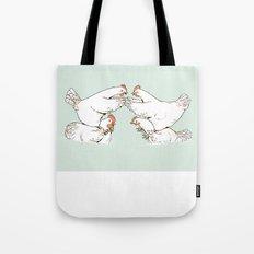 Chicken Fight Tote Bag