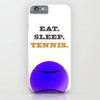 Eat. Sleep. Tennis. (Black) iPhone 6 Slim Case