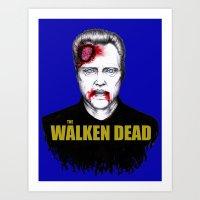 THE WALKEN DEAD Art Print