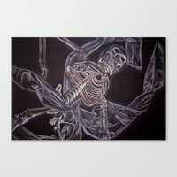 Skeleton Canvas Print