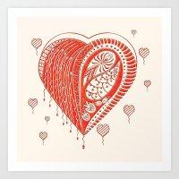 Thorny Heart Art Print