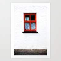 Red Window Art Print