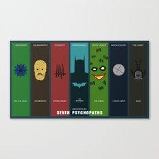 Batman: Seven Psychopath… Canvas Print