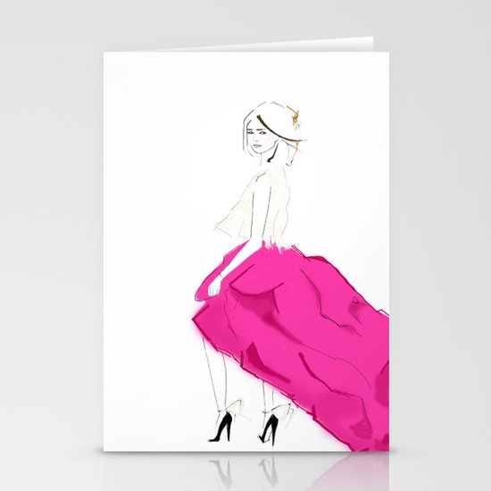 Pink Skirts Stationery Card