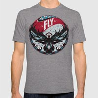 Fly Mens Fitted Tee Tri-Grey SMALL