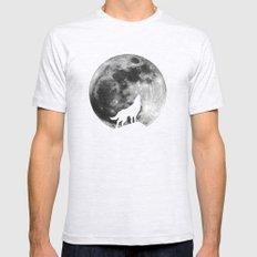Howling Wolf Mens Fitted Tee Ash Grey SMALL