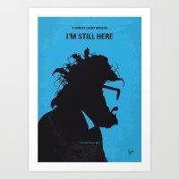 No637 My I am Still Here minimal movie poster Art Print