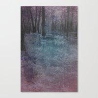 Violet Landscape Canvas Print