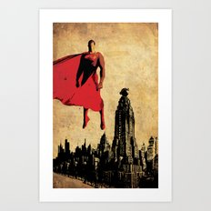 Superman justice league Art Print