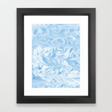 Sato - spilled ink abstract painting marble ocean swirl wave water sea painting marbled paper japan Framed Art Print