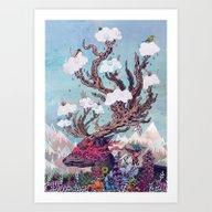 Art Print featuring Journeying Spirit (deer) by Mat Miller