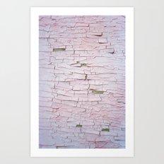 Peeling Paint Art Print