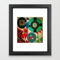 geometric mess Framed Art Print