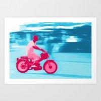 Motorbike Guy Art Print
