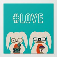 Hipster #LOVE Canvas Print