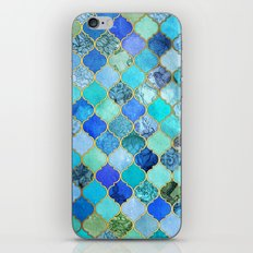 Cobalt Blue, Aqua & Gold Decorative Moroccan Tile Pattern iPhone & iPod Skin