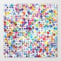 Colorful Paint Splats Canvas Print