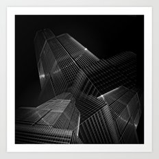 the black building theory - part one Art Print