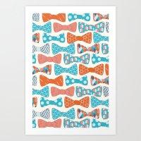 Geometric Bows Art Print
