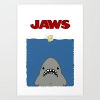 JAWS Movie Poster Art Print