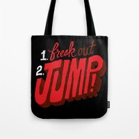 1. Freak Out. 2. Jump Tote Bag