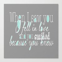 When I Saw You (Mint) Canvas Print