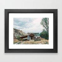 House outside of Zion Framed Art Print