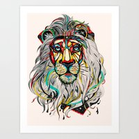 lion Art Prints featuring Lion by Felicia Atanasiu