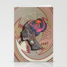 African Woman Profile On… Stationery Cards