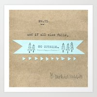 No.75 - Go Outside Art Print