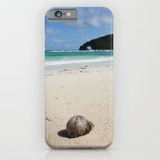 The Coconut Nut is a Giant Nut - beach view iPhone 6 Slim Case