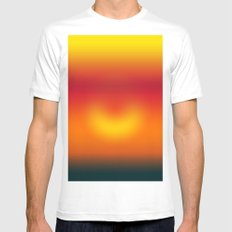 sunset abstract Mens Fitted Tee SMALL White