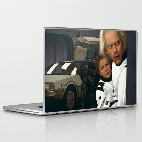 I Find Your Lack Of Jiggawatts Disturbing/Landscape Edition Laptop & iPad Skin
